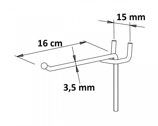 Einfachhaken mit Kugel 16 cm neu