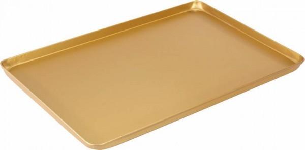 Thekenblech 60x40x2 cm gold neu