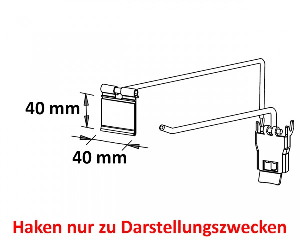 Pendeltaschen 40x40 mm (50 Stück) neu